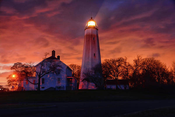 Sandy Hook Lighthouse Art Print