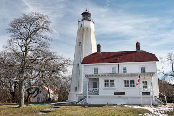 Photograph - Sandy Hook Lighthouse - Winter by Kristia Adams
