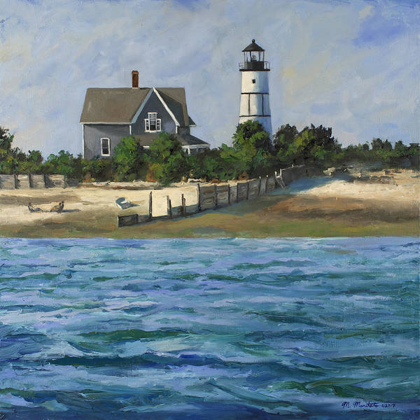 Wall Art - Painting - Sandy Neck Light House - Cape Cod by Mark Maritato