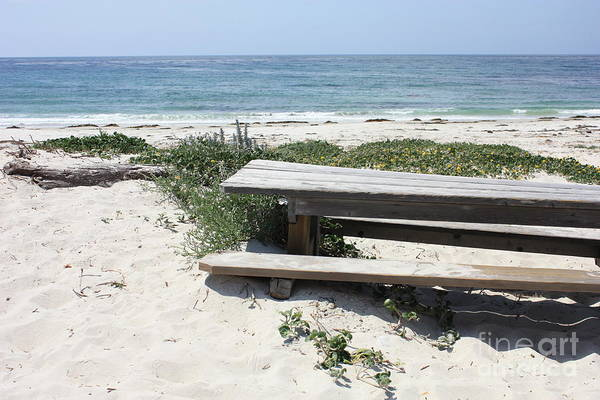Photograph - Sandy Picnic Table by Carol Groenen