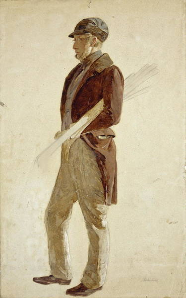 Country Club Painting - Sandy Pirrie, Active 1847. Golfer by Charles Lees