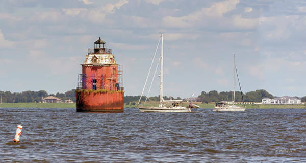 Sandy Point State Park Photograph - Sandy Point Shoal Lighthouse Pano by Brian Wallace