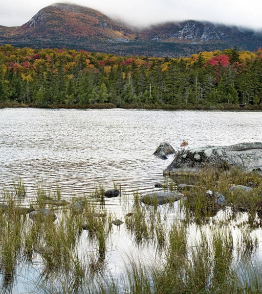 Northern Maine Wall Art - Photograph - Sandy Stream Pond View Of Baxter Peak In Baxter State Park Maine by Brendan Reals