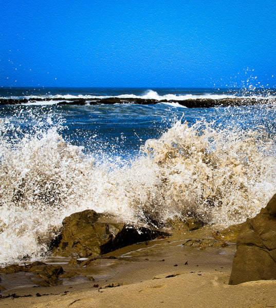 Photograph - Sandy Surf Splash by Bonnie Follett