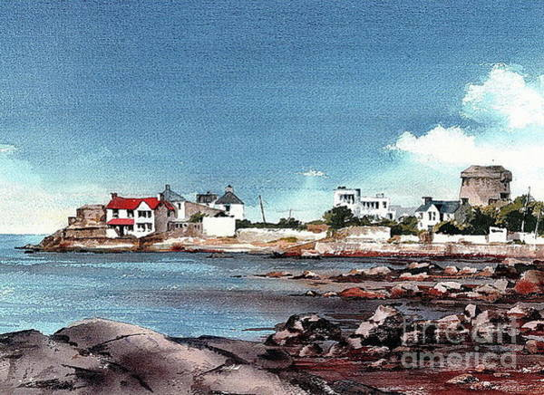 Painting - Sandycove Harbour Co. Dublin by Val Byrne