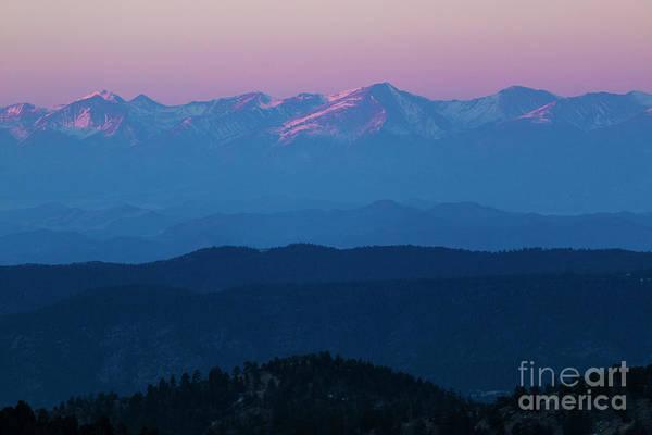 Photograph - Sangre De Cristo Alpenglow by Steve Krull
