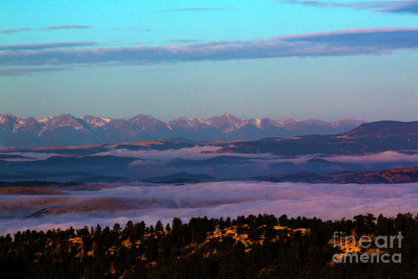 Photograph - Sangre De Cristo Lake Alpenglow Rise by Steve Krull