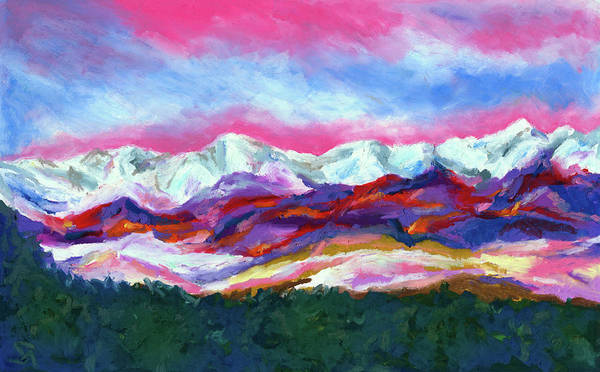 Wall Art - Painting - Sangre De Cristo Mountains by Stephen Anderson