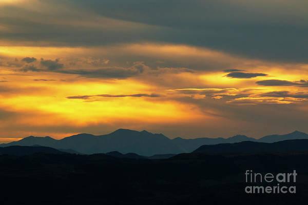 Photograph - Sangre De Cristo Mountains Sunset by Steve Krull