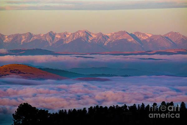 Photograph - Sangre De Cristo Sunrise Lake Of Fog by Steve Krull