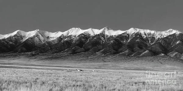Sangre De Cristo Photograph - Sangre De Cristos  Dusk In Black And White by Twenty Two North Photography