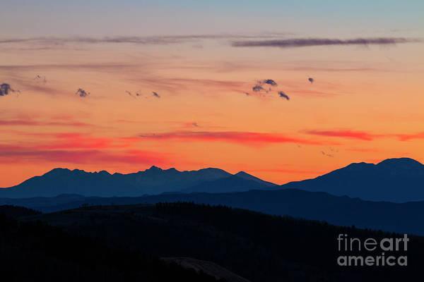 Photograph - Sangre Mountain Sunset by Steve Krull