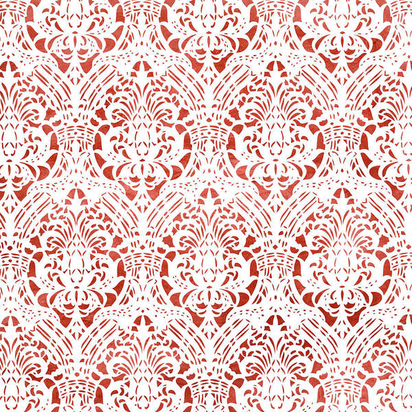 Wall Art - Painting - Sanguine Vintage Pattern by Frank Tschakert