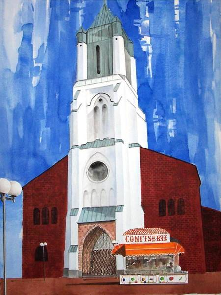 Wall Art - Painting - Sankt Josef Kirche by Patrocinio Belo