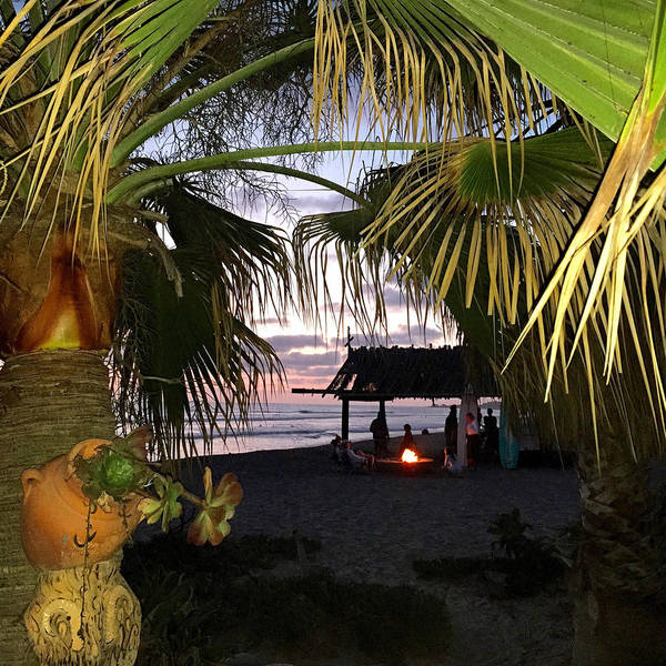 Drawing - Sano Shack Sunset by Paul Carter