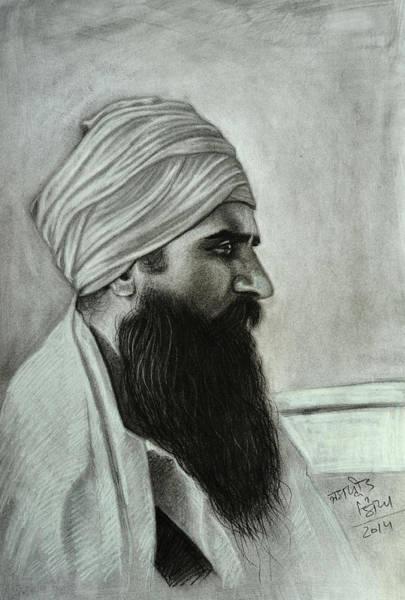 Singh Drawing - Sant Jarnail Singh Khalsa Bhindrawale by Jaspreet Singh
