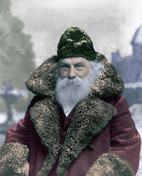 Photograph - Santa 1895 Colorized by Robert G Kernodle