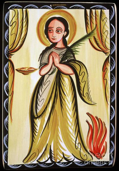 Painting - Santa Agatha - St. Agatha - Aoaga by Br Arturo Olivas OFS