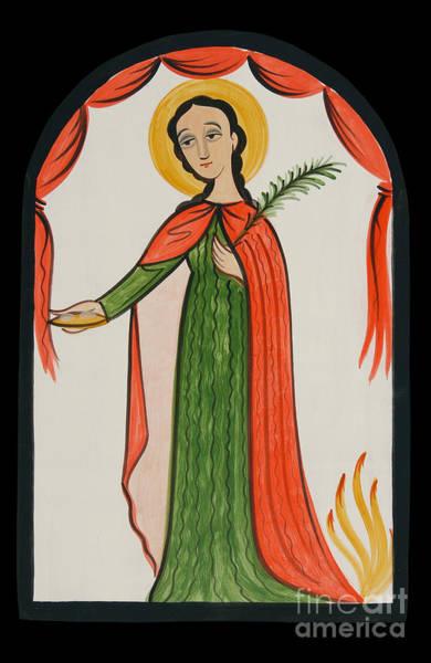 Painting - Santa Agatha - St. Agatha - Aoagt by Br Arturo Olivas OFS