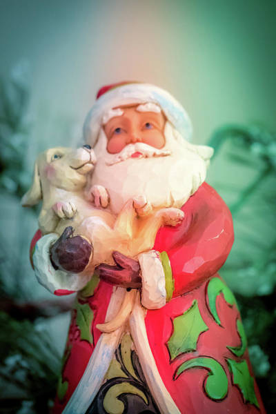 Photograph - Santa And Lab Pup by Allin Sorenson