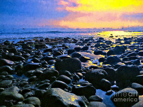 Digital Art - Santa Barbara Beach Sunset California by Alicia Hollinger