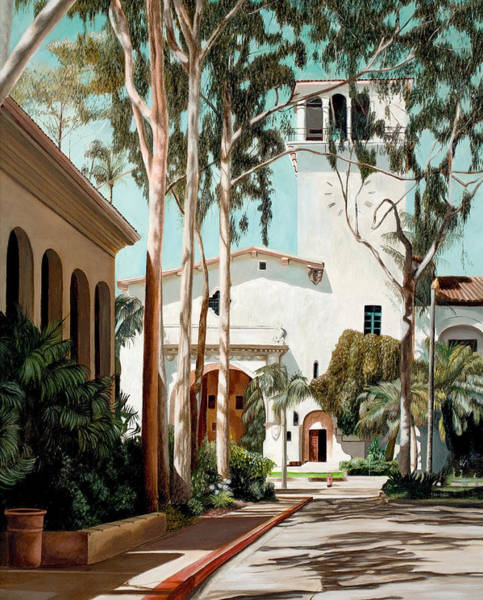 Courthouse Painting - Santa Barbara Courthouse by Douglas Fincham