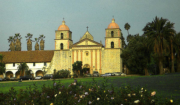 Painting - Santa Barbara Mission California by Peter Potter