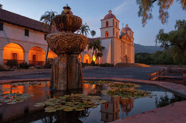 Mission Santa Barbara Photograph - Santa Barbara Mission by Christian Heeb