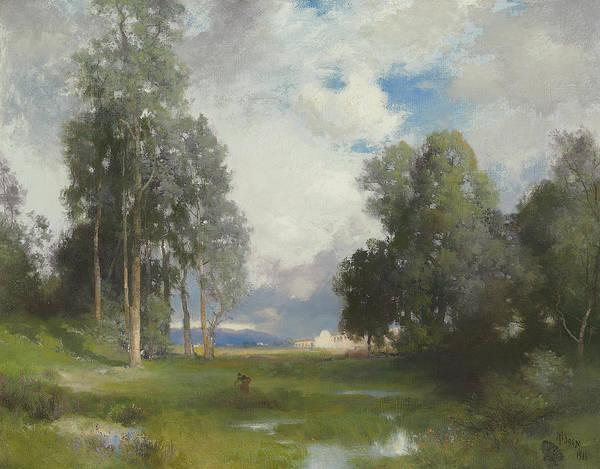 Moran Painting - Santa Barbara Mission by Thomas Moran