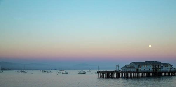 Photograph - Santa Barbara Pier At Dusk by Andy Myatt