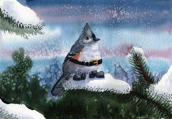Titmouse Painting - Santa Boots by Sean Seal