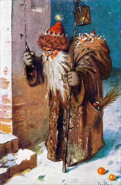 Painting - Santa Claus At The Front Door by Herman Kaulbach