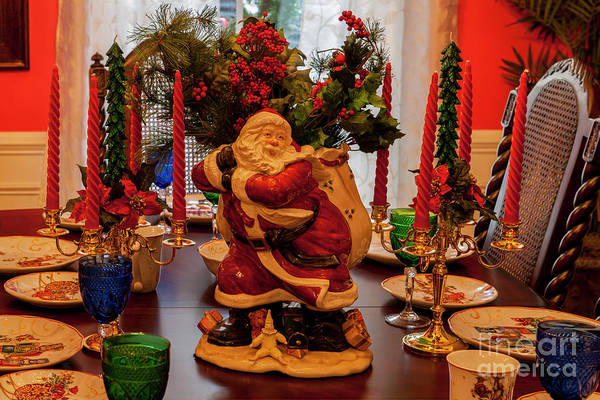 Photograph - Santa Claus Dining by Dale Powell