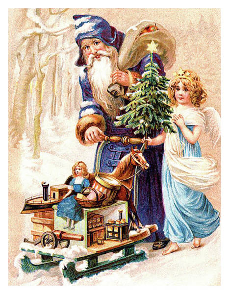 Christmas Gift Digital Art - Santa Claus Is Coming With Lot Of Gifts For Good Children by Long Shot