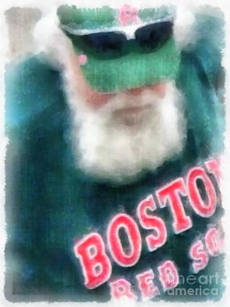Red Sox Photograph - Santa Claus Spotted At Spring Training by Edward Fielding