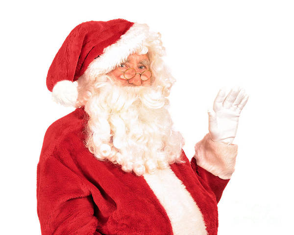 Jolly Holiday Photograph - Santa Claus Waving Hand by Amanda Elwell