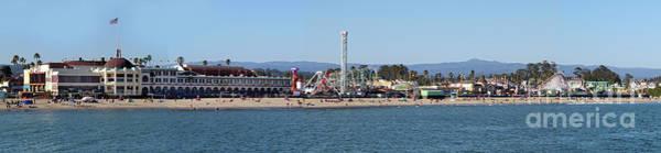 Photograph - Santa Cruz Boardwalk Panorama by Gregory Dyer