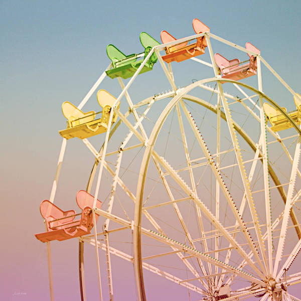 Pastel Photograph - Santa Cruz Ferris Wheel by Linda Woods