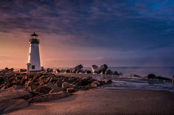 Santa Cruz Harbor Walton Lighthouse Art Print