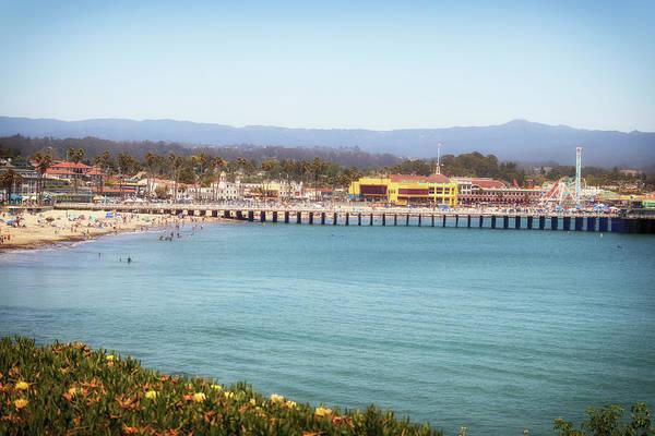Wall Art - Photograph - Santa Cruz Pier Beach And Boardwalk by Marnie Patchett