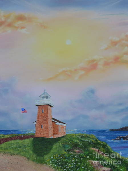 Painting - Santa Cruz Sunset by Mary Scott