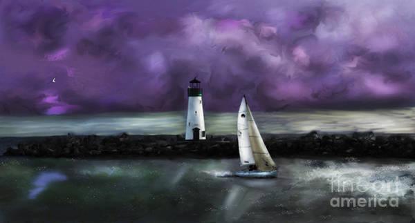Digital Art - Santa Cruzin by Lisa Redfern