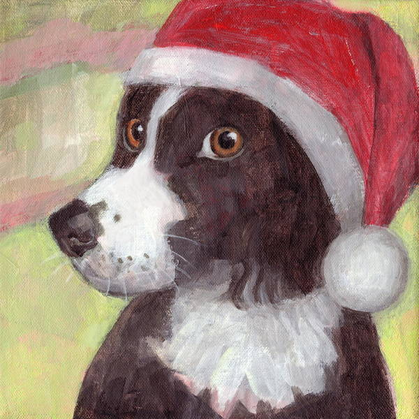 Painting - Santa Dog by Kazumi Whitemoon