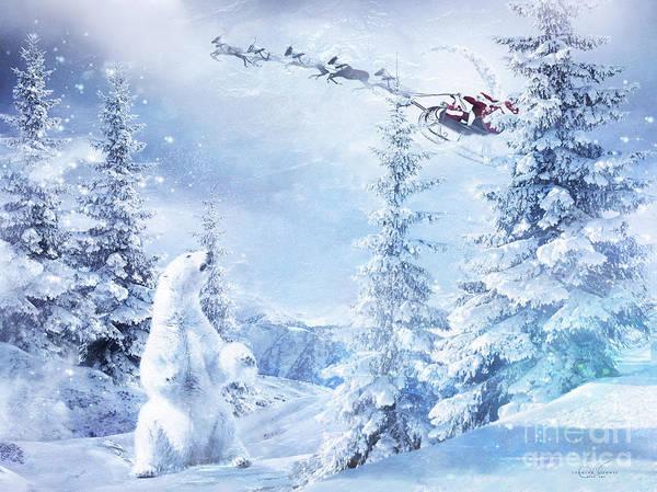 Santa Mixed Media - Here Comes Santa by Shanina Conway