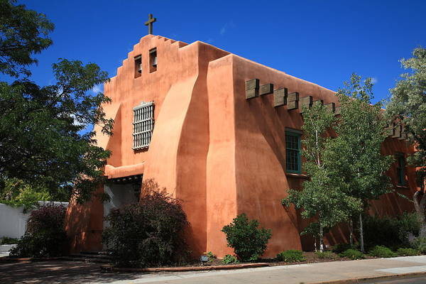 Photograph - Santa Fe - Adobe Church 3 by Frank Romeo