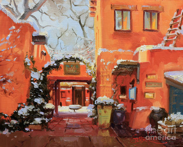 Enchantment Painting - Santa Fe Cafe by Gary Kim