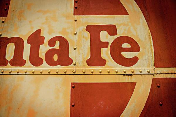 Photograph - Santa Fe Logo by Bud Simpson
