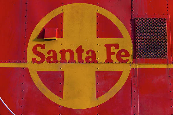 Red Caboose Photograph - Santa Fe Railroad by Garry Gay