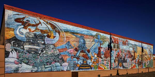 Photograph - Santa Fe Railway Mural by Stuart Litoff