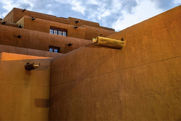 Photograph - Santa Fe Spanish Pueblo Style Architecture Cityscape by Gregory Ballos